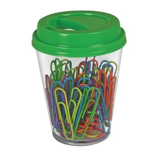 The Pencil Grip Inc Paperclip with Coffee Cup Supply Storage, Assorted, Pack of 80