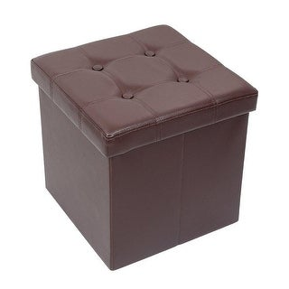 """15"""" x 15"""" x 15"""" Storage Ottoman Cube / Footrest Stool / Puppy Step / Coffee Table, Holds Up to 660lbs ,Faux Leather"""