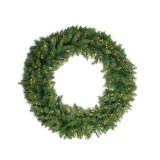 Pre-Lit Northern Pine Artificial Christmas Wreath - 24-Inch, Clear Lights