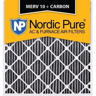 Nordic Pure 28x30x2 Geothermal MERV 10 Pleated Plus Carbon AC Furnace Air Filters Qty 3