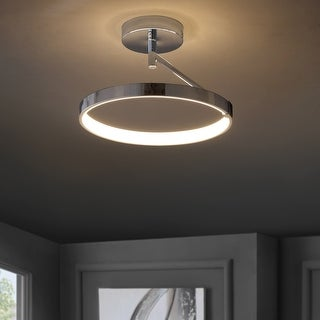 "Owen 17.5"" Dimmable Integrated LED Semi-Flush mount by JONATHAN Y"