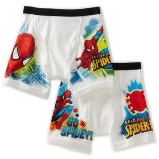 Fruit of the Loom Boys Spiderman Extended Leg Briefs, 2 Packages (4 pcs), Size 6