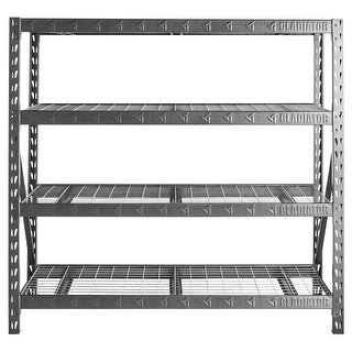 "Gladiator GarageWorks 77"" Wide Heavy Duty Rack with Four 24"" Deep Shelves"