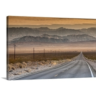 """""""Spring Mountains in Nevada from Highway 190, California"""" Canvas Wall Art"""
