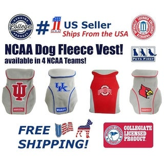 Pets First NCAA Dog Fleece Vest keep your puppy warm & cozy