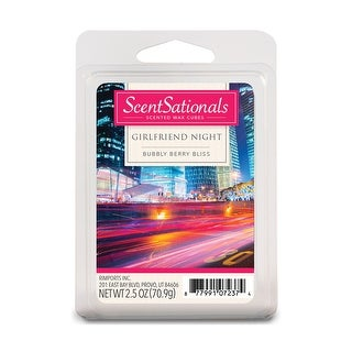 Scentsationals Girlfriend Night 2.5 oz Fragrant Wax Melts, 6 Scented Wax Cubes - 4 Pack