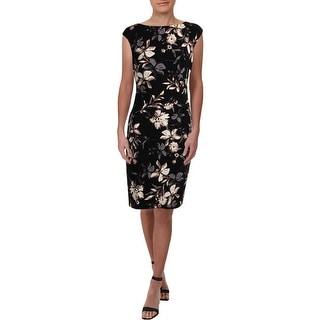 Lauren Ralph Lauren Womens Cocktail Dress Jersey Floral Print