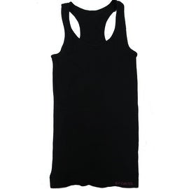 Mens 3 Pack Seamless Black Color Stretchy Tank Tops