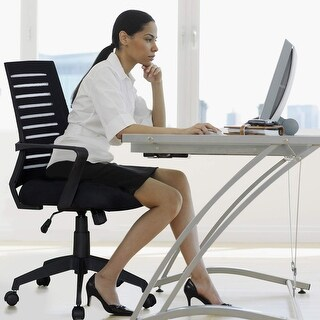 VECELO Home Office Chairs Adjustable Swivel Chairs(mesh cushion chair)