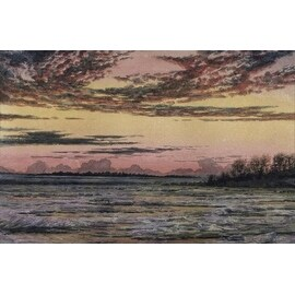Sunset Over The Ice by Frederic E. Church Sunsets And Sunrises Art Print