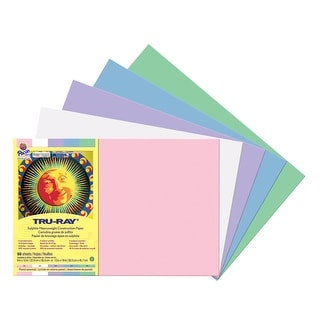 Tru-Ray Sulphite Construction Paper, 12 x 18 Inches, Pastel Colors, Pack of 50