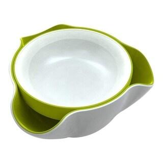 Joseph Joseph DDWG010GB Double Dish Pistachio Bowl and Snack Serving Bowl, Green/White