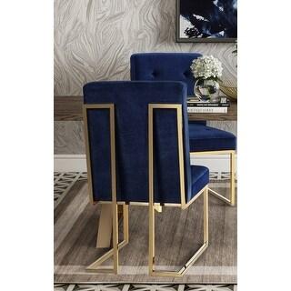 Akiko Navy Velvet Chair (Set of 2)