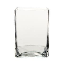 CYS Glass Square Block Vase