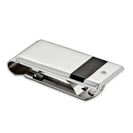 Chisel Stainless Steel Black Rubber and CZ Money Clip