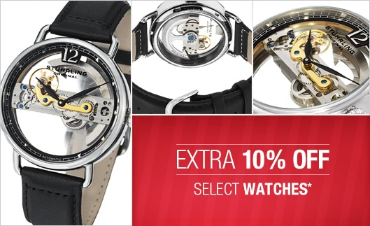 Extra 10% OFF Select Watches and Accessories @ Overstock.com