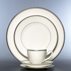 White formal dinnerware set