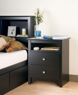 Contemporary night stand in a bedroom
