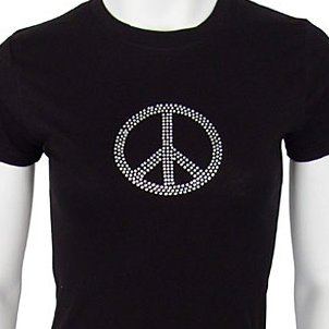 Decorate your favorite T-shirt with rhinestones