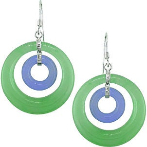 Clean jade earrings