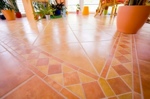 Tile is a durable choice for kitchen flooring