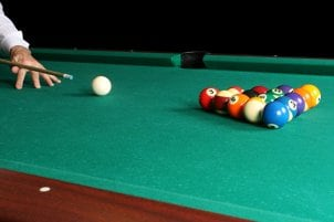 Billiards table set