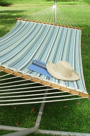 A hammock is wonderful place to relax