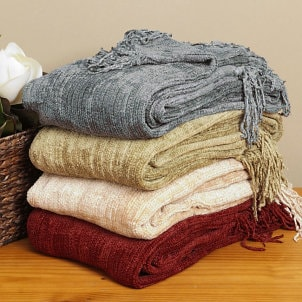 How to Clean a Chenille Throw