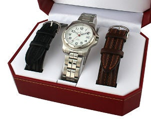 Watch and leather watch bands