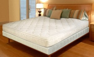 Bed with box spring mattress