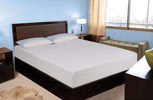 Modern bedroom with platform bed