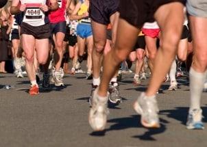 Start of a marathon