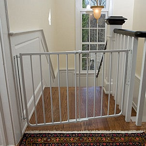 Baby gate in front of stairs