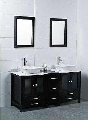 Modern Bathroom Cabinets on Modern Bathroom With Black Vanity