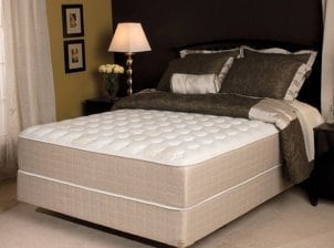 Mattress in furnished bedroom
