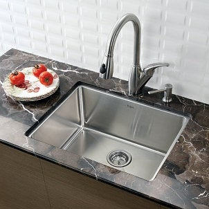 Countertop Kitchen Sink : ... to Cut a Hole in a Countertop for Your Kitchen Sink Overstock.com