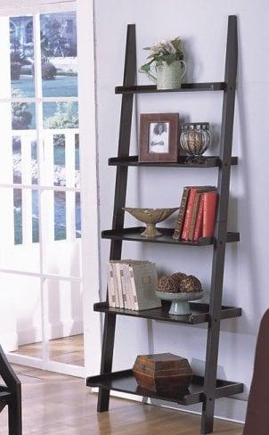 How to Organize a Ladder Shelf