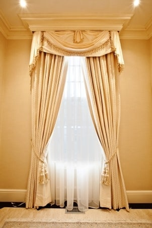 Window valance and curtains