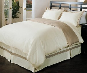 Organic linen fabric bedding