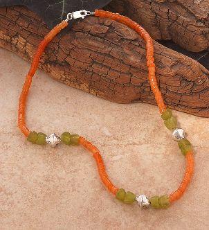 A beautiful handmade bead necklace