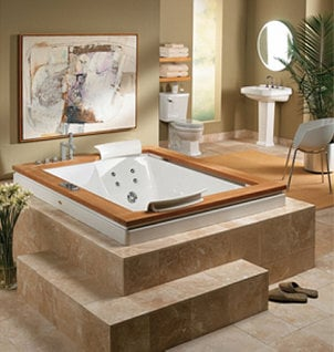 Jacuzzi jetted bathtub