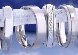 Titanium and stainless steel rings