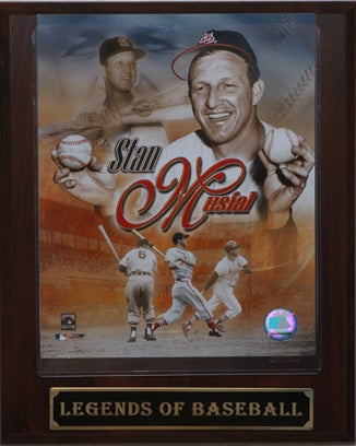 Plaque with picture of baseball player