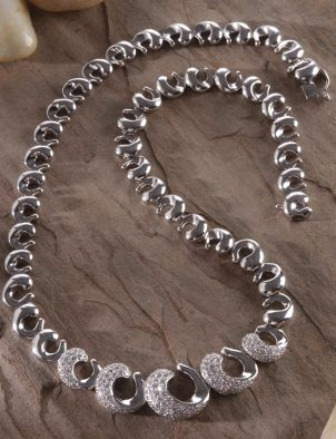 Beautiful alternative metal and diamond necklace