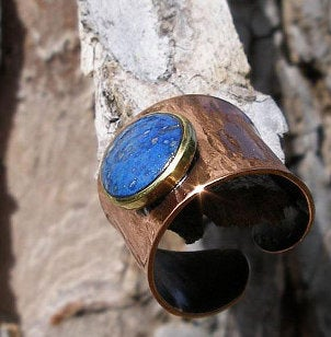 Beautiful copper gemstone ring jewelry