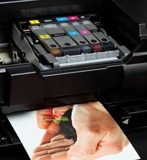 Multicolored Samsung printer cartridges