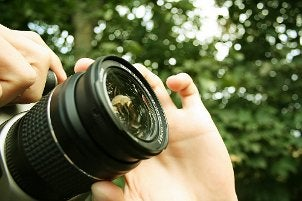 Shooting outdoors with a digital SLR camera