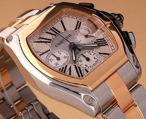 Gold and silver Cartier watch
