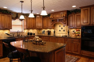 Kitchen designed with GE appliances