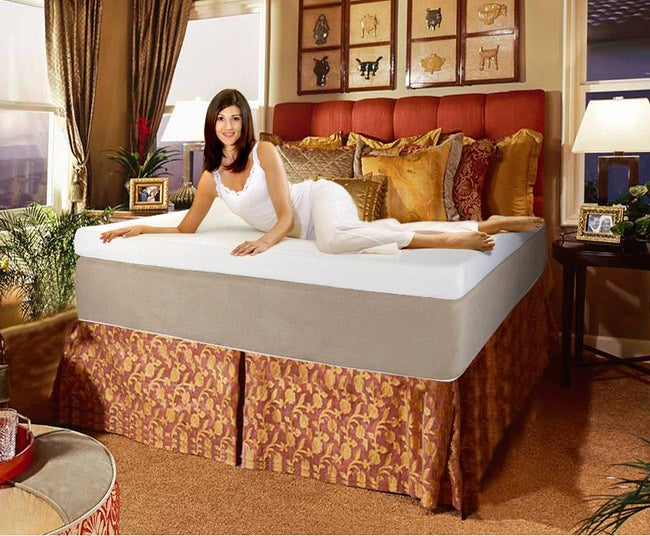 Woman enjoying a California king mattress